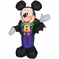Gemmy 3.51 ft. Pre-Lit Inflatable Mickey in Halloween Tux Airblown