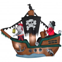 Gemmy 10 ft. Animated Inflatable Skeleton Pirate Ship