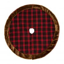 Glitzhome 46.5 in. D Plaid Christmas Tree Skirt