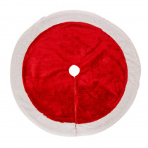 Glitzhome 48 in. D Plush Christmas Tree Skirt