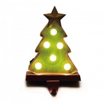 Glitzhome 8.48 in. H Marquee LED Tree Stocking Holder