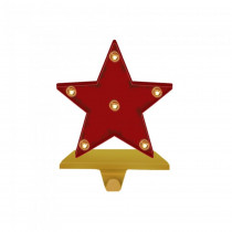 Glitzhome 8.48 in. H Marquee LED Star Stocking Holder