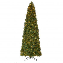 12 ft. Pre-Lit LED Sierra Nevada Quick Set Artificial Christmas Slim Tree x 3,662 Tips with 900 Indoor Warm White Lights