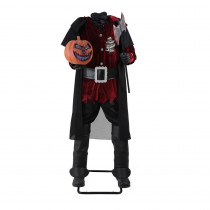 65 in. Headless Horseman with Jack-O-Lantern Head