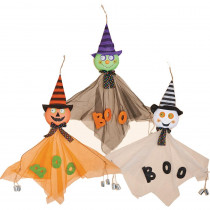 43 in. Hanging Halloween with Cans (Set of 3)