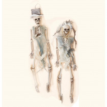 16 in. Halloween Skeleton Bride and Groom