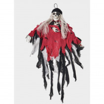 36 in. Hanging Skeleton Pirate