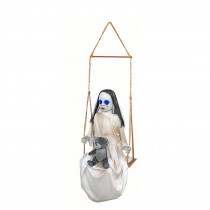 57 in. Halloween Swinging Ghost with LED Illumination