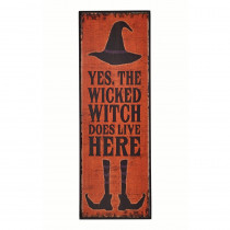 24 in. x 8 in. Wicked Witch Wood Sign