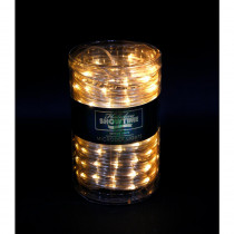 Holiday Showtime 26 ft. 100-Light LED Warm White Battery Operated Micro Dot Rope Light
