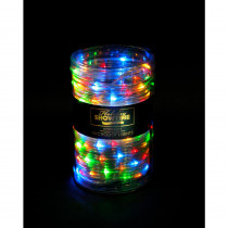 Holiday Showtime 26 ft. 100-Light LED Multi-Color Battery Operated Micro Dot Rope Light