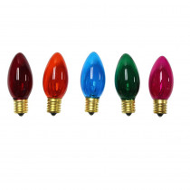Home Accents Holiday C9 Multi-Color Replacement Light Bulbs (8-Pack)