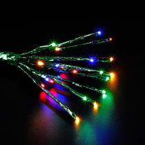 Home Accents Holiday 24-Light LED Multi-Color Star Burst Light with Green Wrap