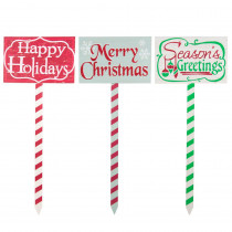 Home Accents Holiday 29 in. Christmas Wood Yard Stakes Decor