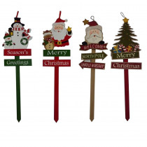Home Accents Holiday 36 in. Holiday Yard Stake (4 Assorted Styles)