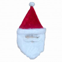 Home Accents Holiday 26 in. Plush Holiday Red Santa Hat with Faux Mustache and Beard