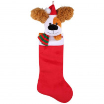 Home Accents Holiday 22 in. Animated Stocking Ear Flapping Dog