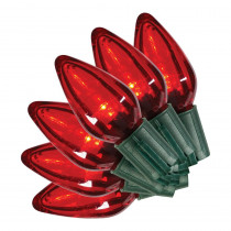 Home Accents Holiday 35L SMOOTH C9 LED SUPER BRIGHT CONSTANT ON RED