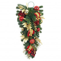 Home Accents Holiday 32 in. Battery Operated Plaza Artificial Teardrop with 35 Clear LED Lights