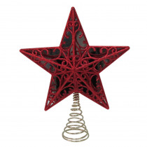 Home Accents Holiday 11.25 in. Red Star Tree Topper