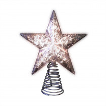 Home Accents Holiday 8.5 in. Silver Mercury Tree Topper