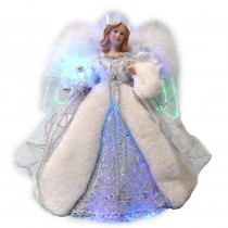 Home Accents Holiday 12 in. LED Angel Silver Tree Topper