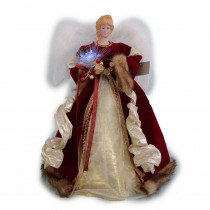 Home Accents Holiday 18 in. LED Red Fiber Optic Angel