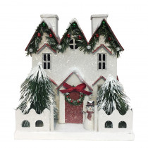 Home Accents Holiday 9.5 in. H Christmas House