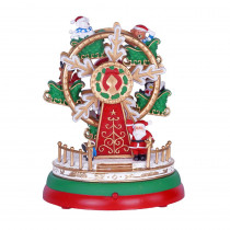 Home Accents Holiday 7 in. Animated Musical Ferris Wheel with LED Illumination