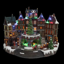 Home Accents Holiday 12.5 in. Animated Holiday Downtown