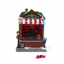 Home Accents Holiday 9.5 in. Animated Toy Shop