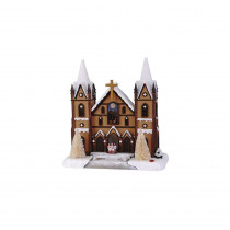 Home Accents Holiday 15 in. Christmas Cathedral with Seasonal Music and LED Illumination