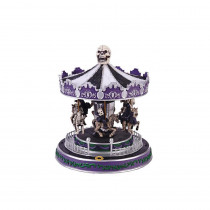 Home Accents Holiday 12 in. Animated Halloween Carousel with LED Illumination