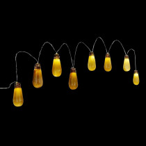 Home Accents Holiday 8-Light Old Fashioned Bulb String Lights with Flickering Lights and Sound