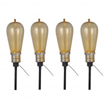 Home Accents Holiday 15-6/8 in. Bulb Pathway Markers with LED Illumination (Set of 4)