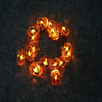 Home Accents Holiday Halloween 6 ft. Lighted Length with 18-Light Pumpkin-Shaped LED Ultra-Wire (6-Pack)