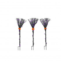 Home Accents Holiday 36-Light Black Grapevine Broom Path Lights (Set of 3)
