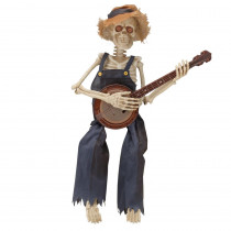 Home Accents Holiday 38 in. Halloween Animated Skeleton Playing Banjo