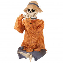 Home Accents Holiday 37 in. Halloween Animated Skeleton Playing Harmonica