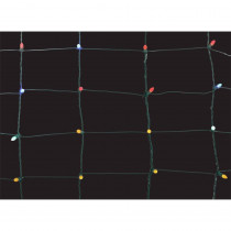 Home Accents Holiday 150-Light Multi-Color 8 in. x 7.5 ft. Ribbon Net Lights