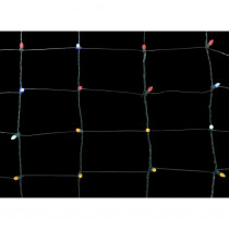 Home Accents Holiday 70-Light Concave LED Multi-Color 4 ft. x 4 ft. Twinkling Net Lights