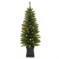 Home Accents Holiday 4 ft. Pre-Lit Douglas Artificial Christmas Porch Tree with 50-Clear Lights