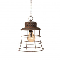 10.5 in. Hanging Metal Lantern