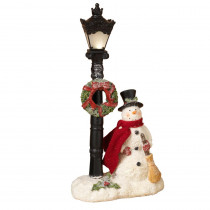 14.9 in. H Lighted Snowman Figurine