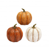 9 in. Assorted Colored Pumpkins