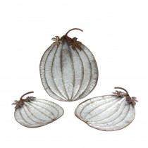 3.25 in. H Assorted Rustic Metal Pumpkin Plates