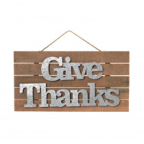 12.79 in. H Give Thanks Wall Hanging Sign