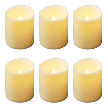 Lumabase 2 in. H Mini Pillar LED Candle (Set of 6)