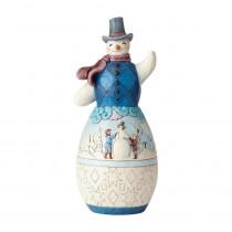 Jim Shore 19 in. Snowman with Winter Scene