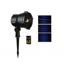 LEDMALL 3-Light Multi Moving Remote Controllable Laser Christmas Light